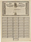 Confederate Notes:Group Lots, Ball 357a Cr. 147 $100 1864 Bond Fine. This numbered remainder bond is bright for the grade and it has a few small fold spli...