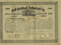 Confederate Notes:Group Lots, Ball 275 Cr. 135 $50,000 1863 Five Per Cent Call Certificate Fine.This once lightly hinged example has toned a shade while ...