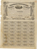 Confederate Notes:Group Lots, Ball 385 Cr. 167 $500 1864 Fine. This remainder has a vignette ofthe CSS Alabama. Left edge damage is noticed along wit...