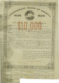 (Montgomery, AL)- State of Alabama $10,000 Bond 1862 Cr. 61H This rare bond with serial number 17 was issued by the stat...