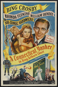 "A Connecticut Yankee in King Arthur's Court (Paramount, 1949). One Sheet (27"" X 41"") Style A. Comedy. Starring..."