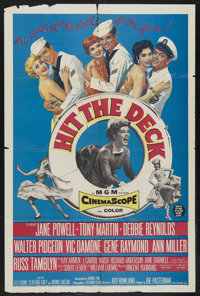 "Hit the Deck (MGM, 1955). One Sheet (27"" X 41""). Musical Comedy. Starring Jane Powell, Tony Martin, Debbie Rey..."