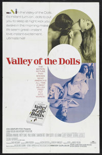 "Valley of the Dolls (20th Century Fox, 1967). One Sheet (27"" X 41""). Drama. Starring Barbara Parkins, Patty Du..."