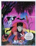 Original Comic Art:Miscellaneous, Dick Ayers - Signed Ghost Rider and Frankenstein Print (1994)....