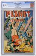 Golden Age (1938-1955):Science Fiction, Planet Comics #53 (Fiction House, 1948) CGC FN- 5.5 Off-white towhite pages....