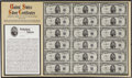 Small Size:Silver Certificates, Fr. 1655 $5 1953 Silver Certificates. Uncut Sheet of 18. Choice Crisp Uncirculated.. This exceptionally attractive sheet wou...