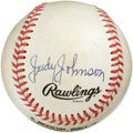 Autographs:Baseballs, Judy Johnson Single Signed Baseball. The top man at his position inthe Negro Leagues, Judy Johnson was the best third base...