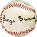 Autographs:Baseballs, George Burns Single Signed Baseball. One of our nation's finestperformers who reached the age of 100, George Burns has mad...