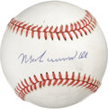 Autographs:Baseballs, Muhammad Ali Single Signed Baseball. Desirable signature fromboxing hero Muhammad Ali has been applied to the offered ONL ...