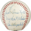 Autographs:Baseballs, Don Drysdale Single Signed Baseball. The intimidating brushbackpitcher Don Drysdale has added a personal inscription to a ...