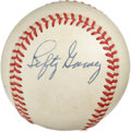 Autographs:Baseballs, Lefty Gomez Single Signed Baseball. The quirky hurler for the NewYork Yankees was excused for his zaniness due to the fact...
