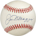 Autographs:Baseballs, Joe DiMaggio Single Signed Baseball. Splendid application of JoeDiMaggio's wildly desirable signature appears on this OAL ...