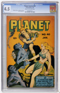 Golden Age (1938-1955):Science Fiction, Planet Comics #40 (Fiction House, 1946) CGC VG+ 4.5 Cream tooff-white pages....