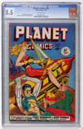 Golden Age (1938-1955):Science Fiction, Planet Comics #58 (Fiction House, 1949) CGC FN- 5.5 Off-white pages....