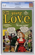 Golden Age (1938-1955):Romance, Young Love #12 (Prize, 1950) CGC VG/FN 5.0 Off-white to whitepages....