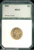 Additional Certified Coins: , 1885 $5