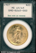 Additional Certified Coins: , 1907 $20 LIBERTY