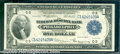 Large Size:Federal Reserve Bank Notes, 1918 $1 Federal Reserve Bank Note (Philadelphia), Fr-715, Choic...
