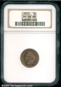 1873 1C Closed 3 PR 64 Red NGC. The fully lustrous, orange-red surfaces do not reveal any distractions that would seem t...