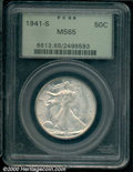 1941-S 50C MS 65 PCGS. The key to the later-date Walkers, this frosty-white piece displays clean features that are indic...