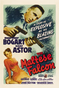 "Movie Posters:Film Noir, The Maltese Falcon (Warner Brothers, 1941). One Sheet (27"" X41"")...."