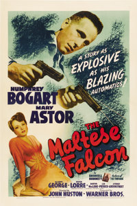 "The Maltese Falcon (Warner Brothers, 1941). One Sheet (27"" X 41"")"