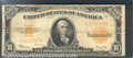 Large Size Gold Certificates:Large Size, 1922 $10 Gold Certificate, Fr-1173, Fine. The folds are more ev...