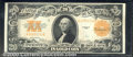 Large Size Gold Certificates:Large Size, 1922 $20 Gold Certificate, Fr-1187, XF. The color on the back i...