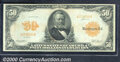 Large Size Gold Certificates:Large Size, 1913 $50 Gold Certificate, Fr-1199, Fine-VF. This is a rare and...