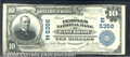 National Bank Notes:Pennsylvania, Peoples National Bank of East Brady, PA, Charter #5356. 1902 $1...