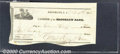 Miscellaneous:Checks, $400 check, Cashier of the Brooklyn Bank, Brooklyn, L.I., 10/15...