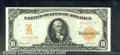 Large Size Gold Certificates:Large Size, 1907 $10 Gold Certificate, Fr-1172, VF. This is the rarer 1907 ...