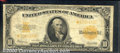 Large Size Gold Certificates:Large Size, 1922 $10 Gold Certificate, Fr-1173, Star Note, VG-Fine. A new a...