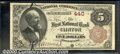 National Bank Notes:Massachusetts, First National Bank of Clinton, MA, Charter #440. 1882 $5 Secon...