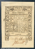 Colonial Notes:Rhode Island, May, 1786, 3s, Rhode Island, RI-294, Choice CU+. A boldly print...