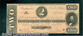 Confederate Notes:1864 Issues, 1864 $2 Judah P. Benjamin, T-70, AU. There is an ink stain at t...