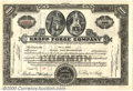 Stocks, Bonds And Checks: , Kropp Forge Company, 1954, Brown-Black. Issued to President Roy...