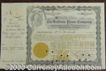 Stocks, Bonds And Checks: , Baldwin Piano Company, Stock, 1919, Black-Gold. There is a scar...