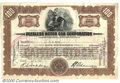 Stocks, Bonds And Checks: , Peerless Motorcar Corporation, Stock, 1930, Brown-Black, 1930. ...