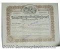 Stocks, Bonds And Checks: , Tamarack and Custer Consolidated Mining Company, 1913, Brown-Bl...