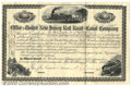 Stocks, Bonds And Checks: , Office of the United New Jersey Railroad and Canal Company, Sto...