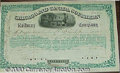 Stocks, Bonds And Checks: , Chicago and Canada Southern Railway Company, Stock, 1874, Green...