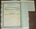 Stocks, Bonds And Checks: , Compania Transaerea Espanola, Colon, Spain, Stock, 1928, Blue-O...