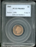 Proof Indian Cents: , 1865 1C, RD