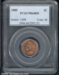 Proof Indian Cents: , 1905 1C, RD