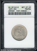 Seated Quarters: , 1873 25C ARROWS