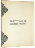 Miscellaneous:Other, Ninety Years of Security Printing The Story of the British American Bank Note Company Limited 1866 - 1956. This is a spiral ...