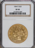 Liberty Double Eagles: , 1864-S $20 XF45 NGC. NGC Census: (166/347). PCGS Population(94/213). Mintage: 793,660. Numismedia Wsl. Price for NGC/PCGS ...