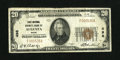 National Bank Notes:Maine, Augusta, ME - $20 1929 Ty. 1 First National Granite Bank Ch. # 498.Pleasing color is noticed on this state capital issu...