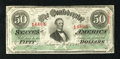 Confederate Notes:1863 Issues, T57 $50 1863. This attractive Crisp Uncirculated $50 has two cutcancels that have been repaired with stamp hinges. A pr...
